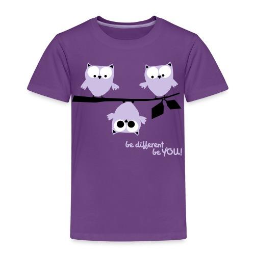 Eulen – Be different! - Kinder Premium T-Shirt