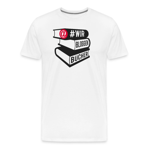 #wirbloggenbücher Shirt - Männer Premium T-Shirt