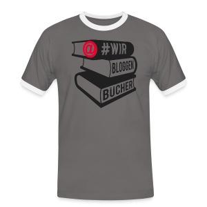#wirbloggenbücher Shirt - Männer Kontrast-T-Shirt