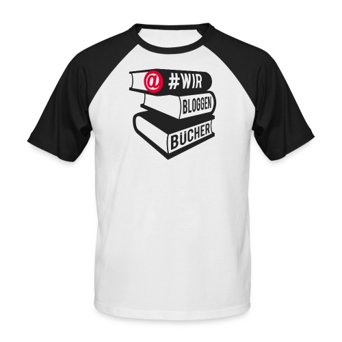 #wirbloggenbücher Shirt - Männer Baseball-T-Shirt