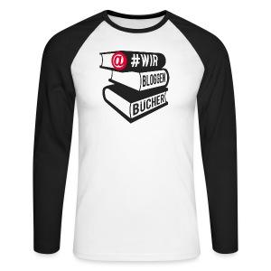 #wirbloggenbücher Shirt - Männer Baseballshirt langarm