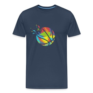 Basketball farbig abstrakt Explosion - Men's Premium T-Shirt