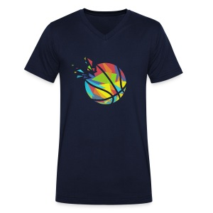 Basketball farbig abstrakt Explosion - Men's Organic V-Neck T-Shirt by Stanley & Stella