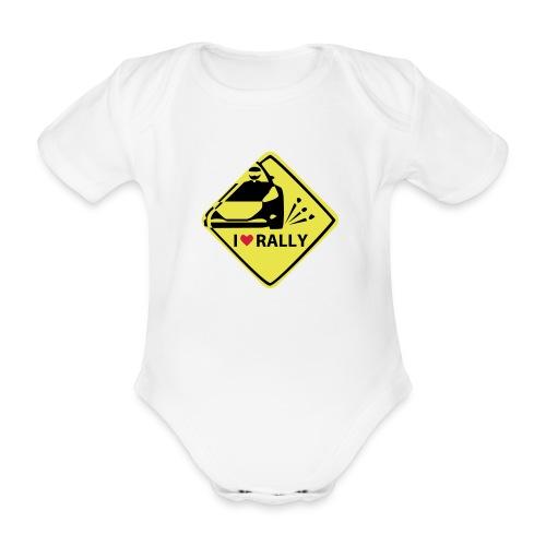 I love rally Baby Body - Baby Bio-Kurzarm-Body