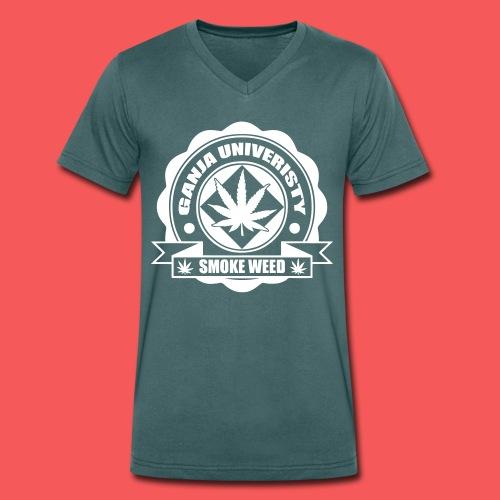 T-shirt smock weed  - T-shirt bio col V Stanley & Stella Homme