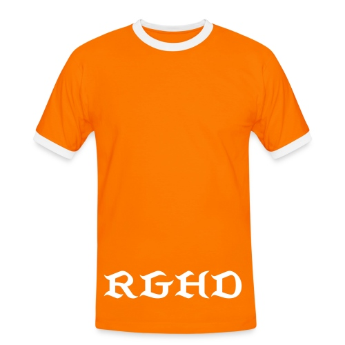 RGHD Mens Orange T-Shirt - Men's Ringer Shirt