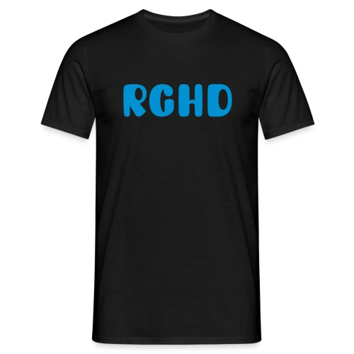 RGHD Mens Black T-Shirt - Men's T-Shirt
