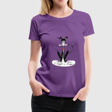 Nellie Doodles I caught a rabbit - Women's Premium T-Shirt