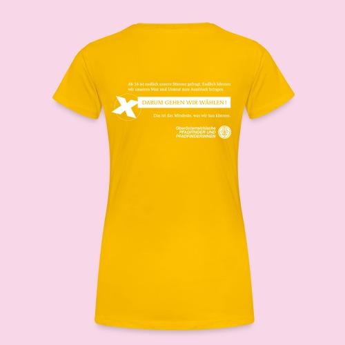 PPOÖ Wir wählen tailliert - Frauen Premium T-Shirt