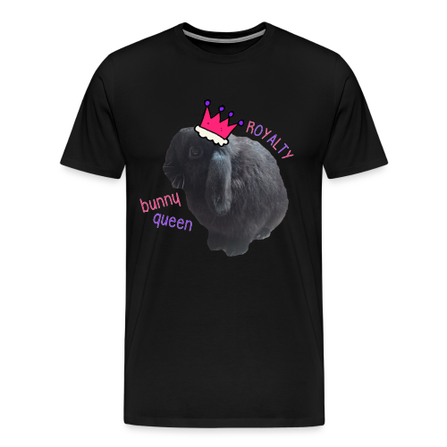 Men's Bunny Queen T-Shirt - Text With White Outline - Men's Premium T-Shirt