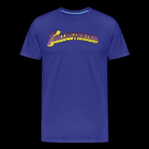 T-shirt Teellustration - Mannen Premium T-shirt