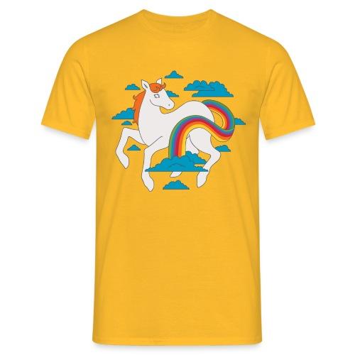 Sateenkaariponi-paita - Miesten t-paita