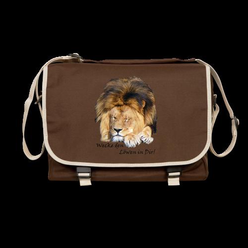TIAN GREEN Tasche Bag01 - Wecke den Löwen in Dir - Umhängetasche