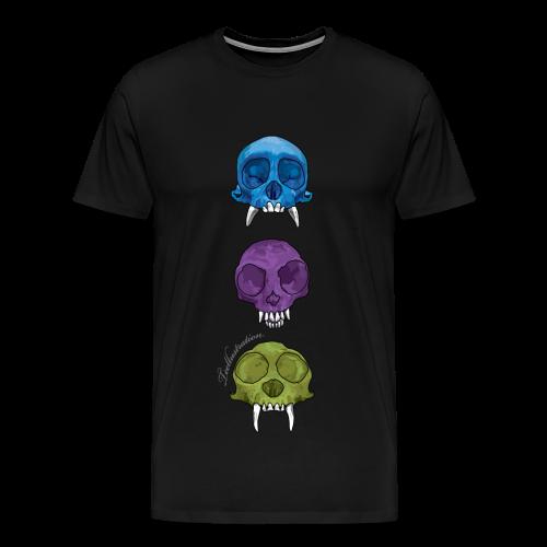 T-shirt Monkey Skulls - Mannen Premium T-shirt