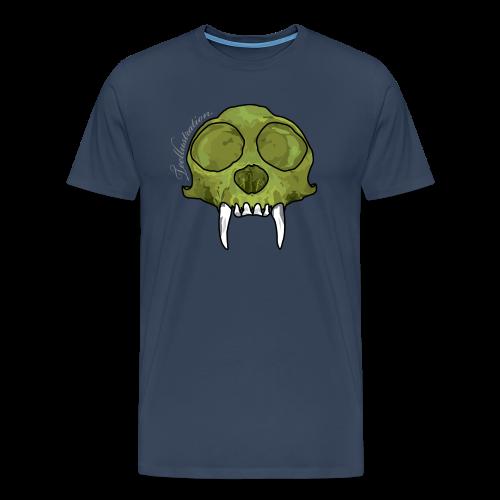 T-shirt Green Monkey Skull - Mannen Premium T-shirt
