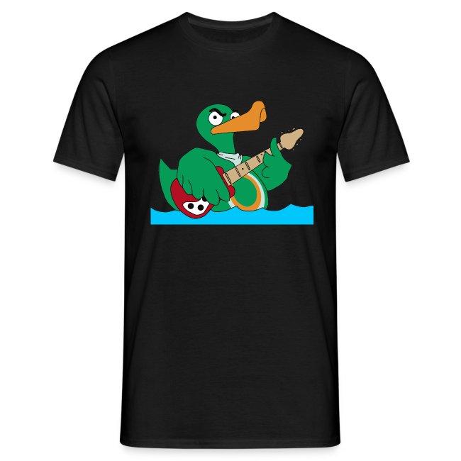 TP Shirt duck@rock Logo: rot/weiß