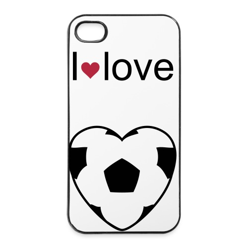 i lov e calcio - Custodia rigida per iPhone 4/4s