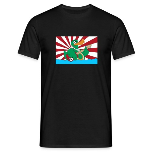 TP Flag-Shirt duck@war Logo weiss/rot - Männer T-Shirt