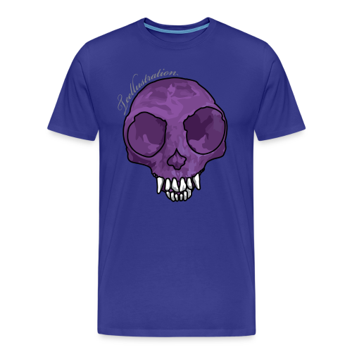 T-shirt Purple Monkey Skull - Mannen Premium T-shirt