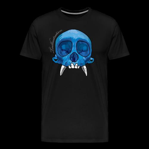 T-shirt Blue Monkey Skull - Mannen Premium T-shirt
