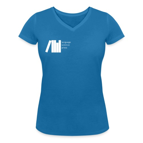 LangSci Shirt Blue Women - Women's Organic V-Neck T-Shirt by Stanley & Stella