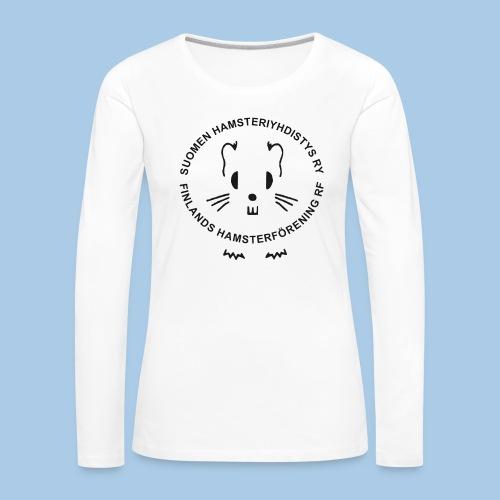Naisten pitkähihainen paita mustalla logolla - Naisten premium pitkähihainen t-paita