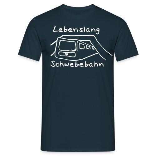 Lebenslang Schwebebahn Männer-Shirt - Männer T-Shirt