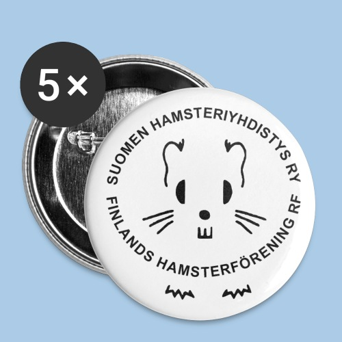 Logopinssit 5 kpl - Rintamerkit isot 56 mm