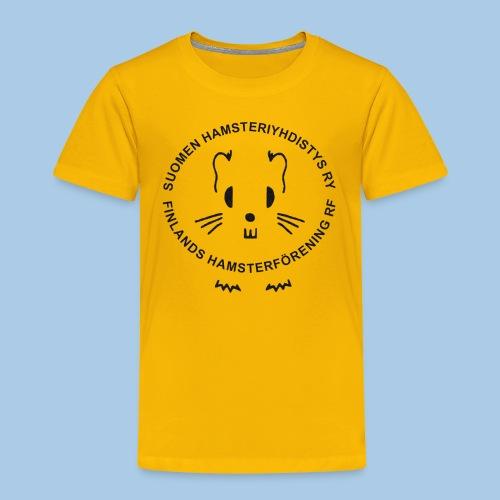 Lasten t-paita mustalla logolla - Lasten premium t-paita