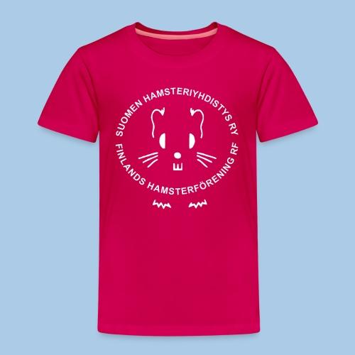 Lasten t-paita valkoisella logolla - Lasten premium t-paita