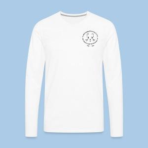 Miesten pitkähihainen mustalla logolla - Miesten premium pitkähihainen t-paita