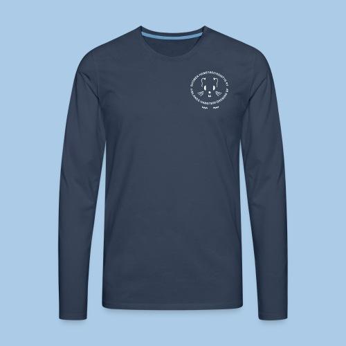 Miesten pitkähihainen valkoisella logolla - Miesten premium pitkähihainen t-paita