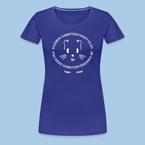 Naisten premium t-paita valkoisella logolla - Naisten premium t-paita