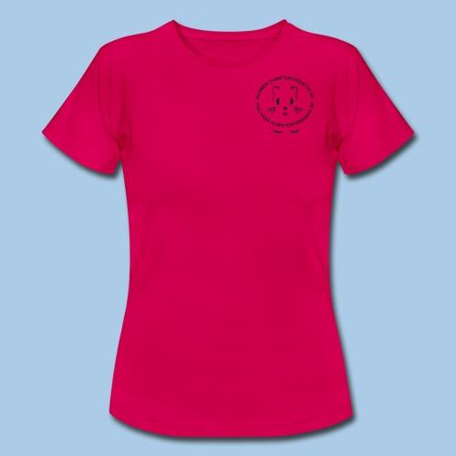 Naisten t-paita pienellä mustalla logolla - Naisten t-paita
