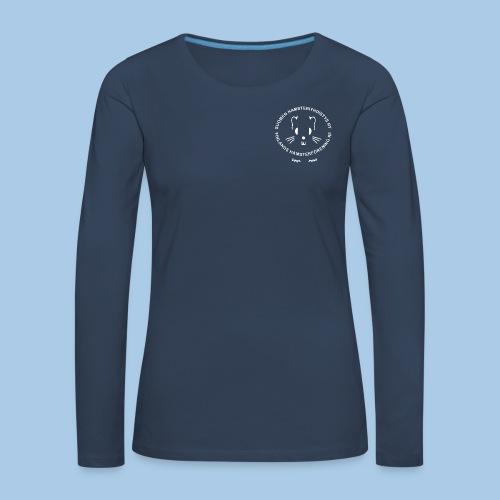 Naisten pitkähihainen pienellä valkoisella logolla - Naisten premium pitkähihainen t-paita