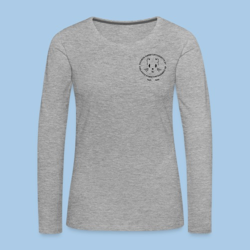 Naisten pitkähihainen pienellä mustalla logolla - Naisten premium pitkähihainen t-paita