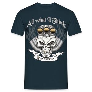 V8 Motor Schädel mit Blower - Männer T-Shirt