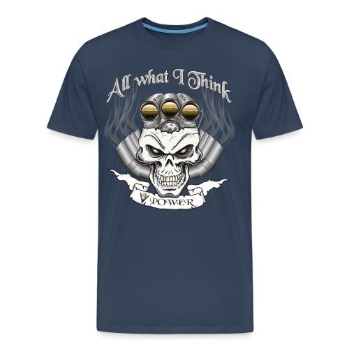 V8 Motor Schädel mit Blower - Männer Premium T-Shirt