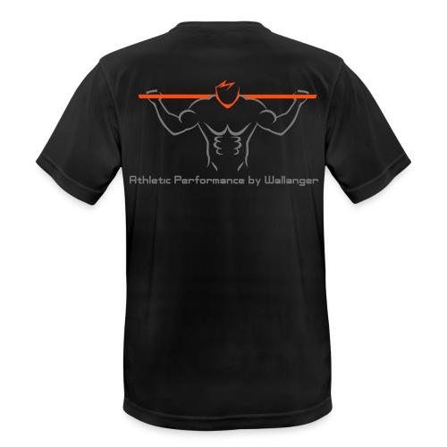 Funktions T-Shirt - Grå logga - Andningsaktiv T-shirt herr