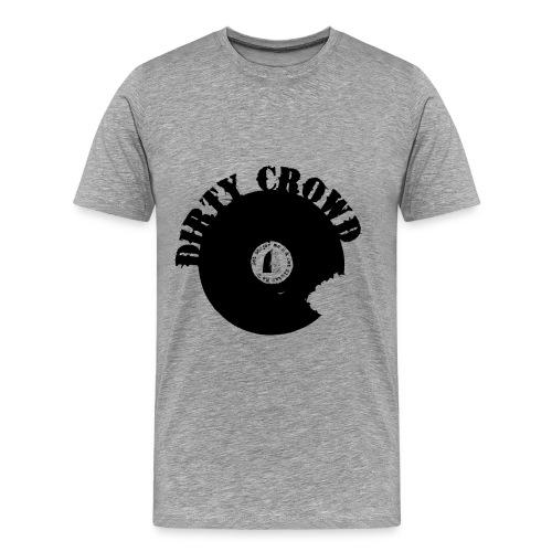 DIRTY CROWD TEE black print - Premium-T-shirt herr