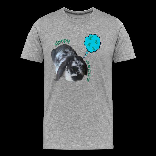 Men's Sleepy Bunny T-Shirt - Text With Black Outline - Men's Premium T-Shirt