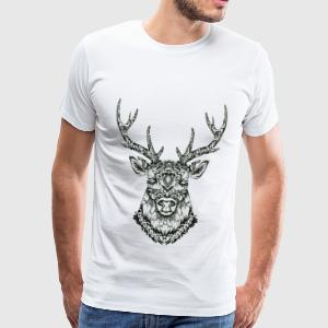 Cerf Zentangle - T-shirt Premium Homme