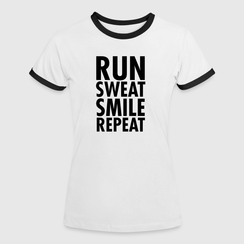 Run sweat smile repeat t shirt spreadshirt for Sweat free t shirts