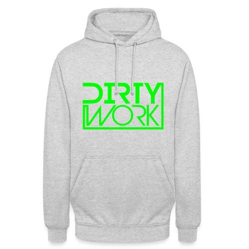 Hoodie (unisex/green logo) DirtyWork - Unisex Hoodie