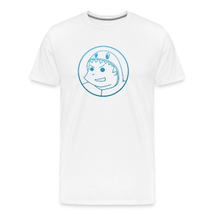 Pabloh Logo - Blue on White - Men's Premium T-Shirt