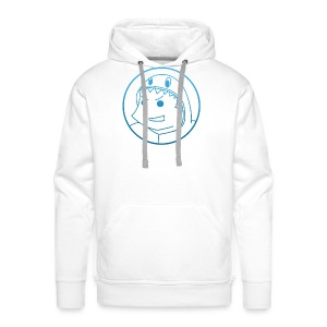 Pabloh Logo - Blue on White - Men's Premium Hoodie