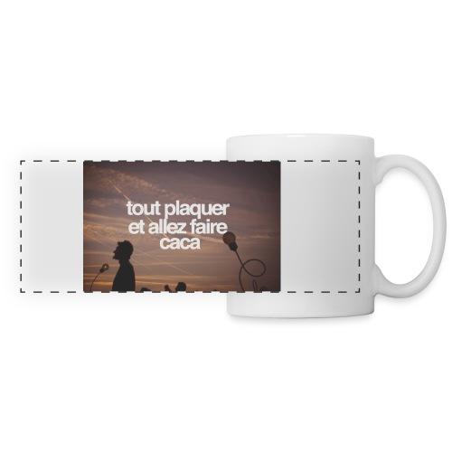 Café / Clope / Caca - Mug panoramique contrasté et blanc