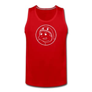 Pabloh Logo - White on Most-Colours - Men's Premium Tank Top
