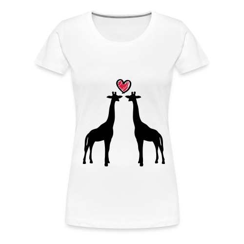 Giraffenshirt - Frauen Premium T-Shirt