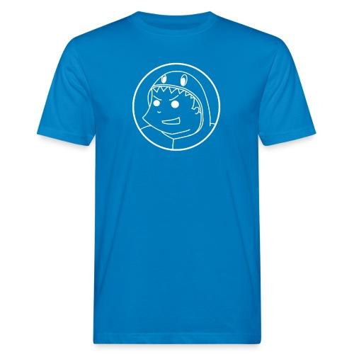 Pabloh Logo - White on Blue - Men's Organic T-Shirt